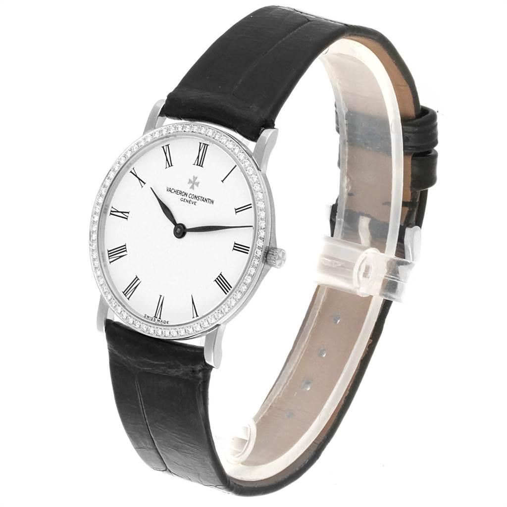 Vacheron Constantin Patrimony White Gold Diamond Ultra Thin Watch 33093 SwissWatchExpo