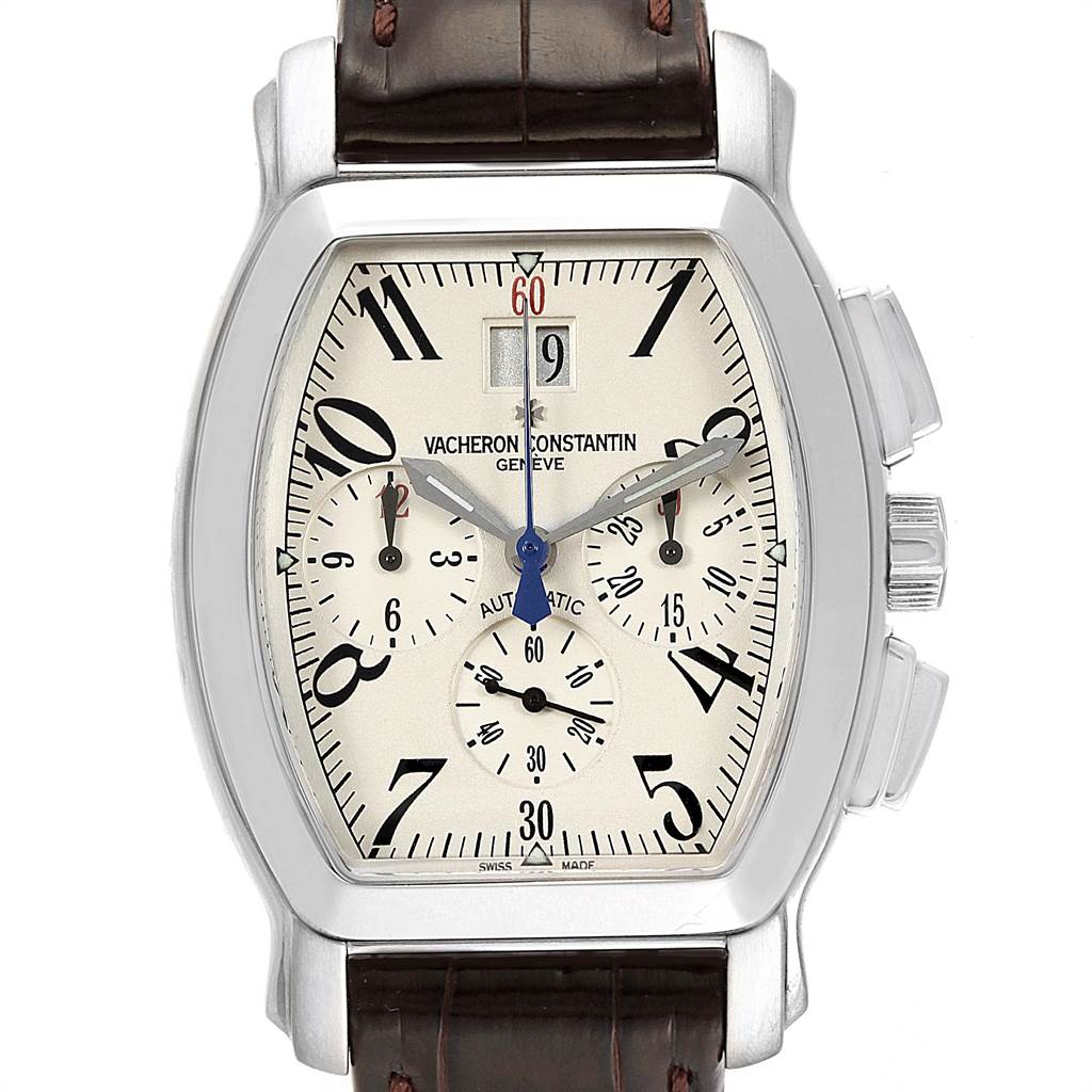 Vacheron Constantin Royal Eagle Chronograph Silver Dial Mens Watch 49145