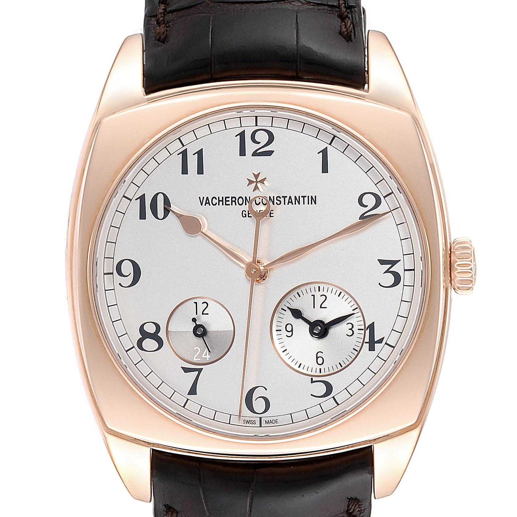 Photo of Vacheron Constantin Harmony Dual Time Rose Gold Mens Watch 7810S