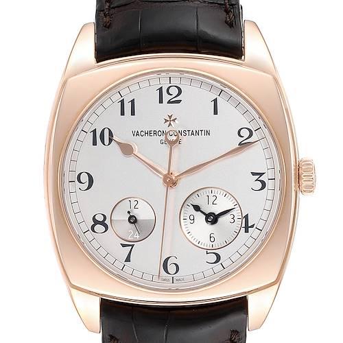 Vacheron Constantin Harmony Dual Time Rose Gold Mens Watch 7810S