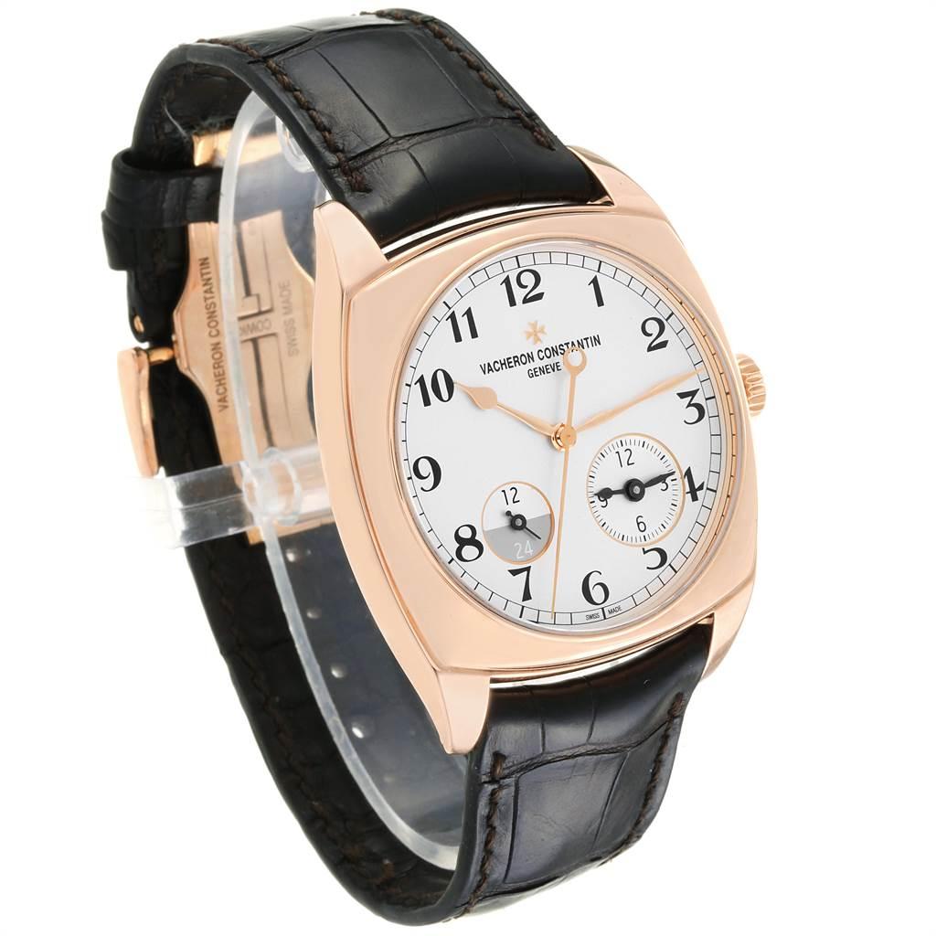 22420 Vacheron Constantin Harmony Dual Time Rose Gold Mens Watch 7810S SwissWatchExpo