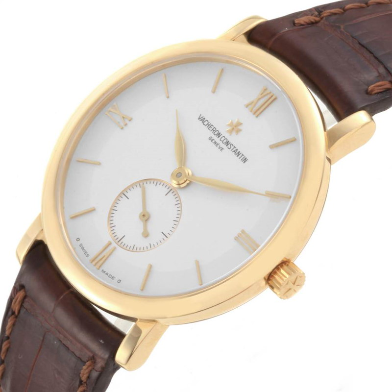 Vacheron Constantin Patrimony Yellow Gold Silver Dial Mens Watch 81160 SwissWatchExpo