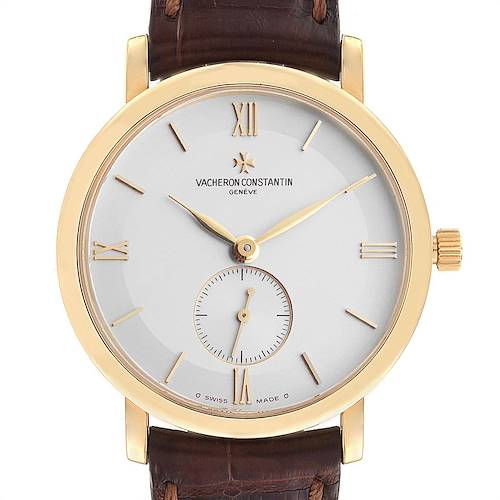 Photo of Vacheron Constantin Patrimony Yellow Gold Silver Dial Mens Watch 81160