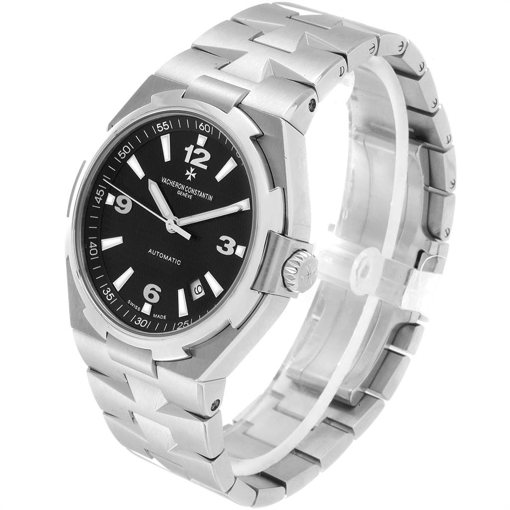 Vacheron Constantin Overseas Black Dial Steel Mens Watch 47040 SwissWatchExpo