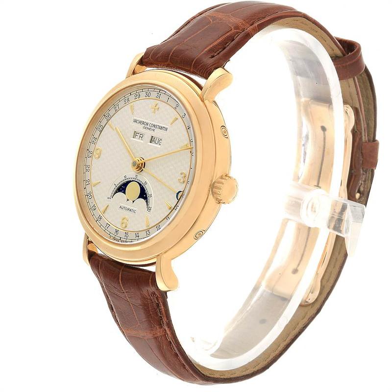 Vacheron Constantin Triple Calendar Moon Phase Yellow Gold Watch 47050 SwissWatchExpo