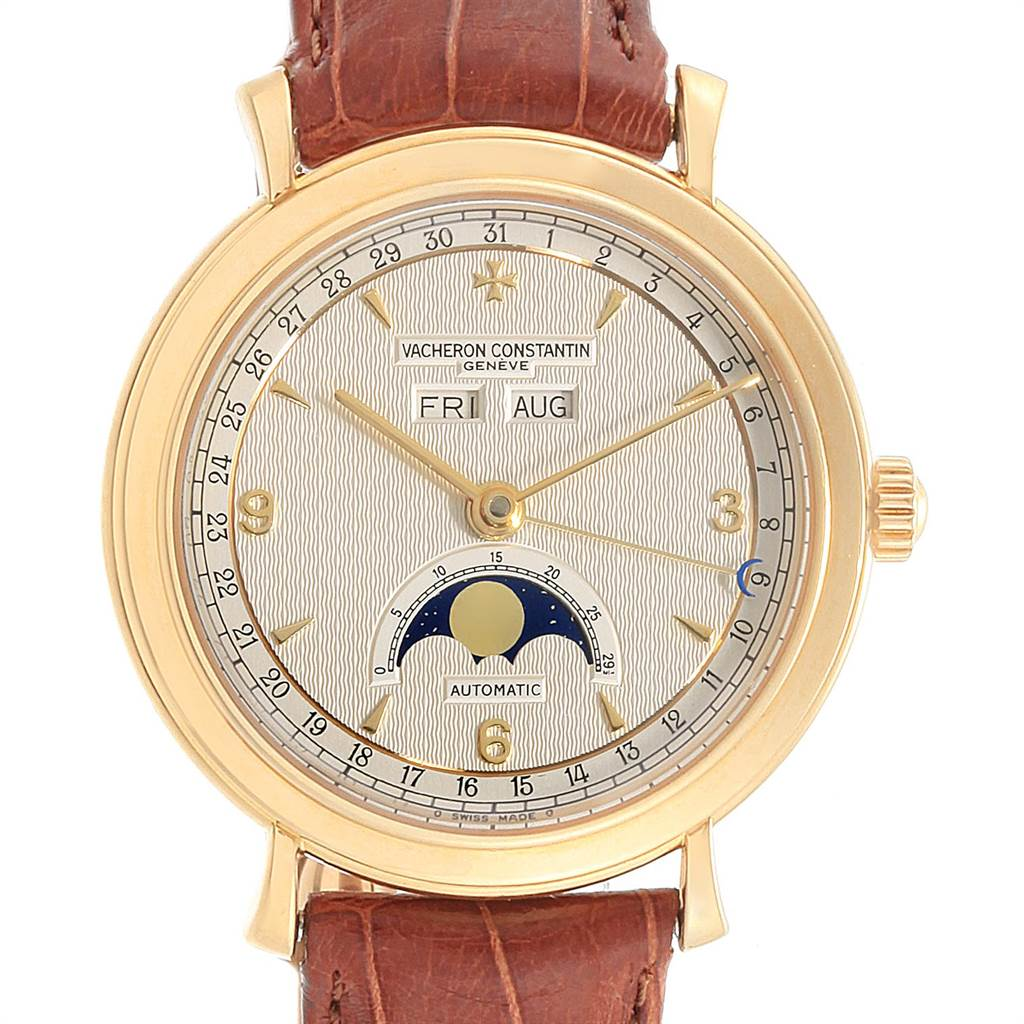 Vacheron Constantin Triple Calendar Moon Phase Yellow Gold Watch 47050 SwissWatchExpo