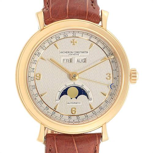 Photo of Vacheron Constantin Triple Calendar Moon Phase Yellow Gold Watch 47050