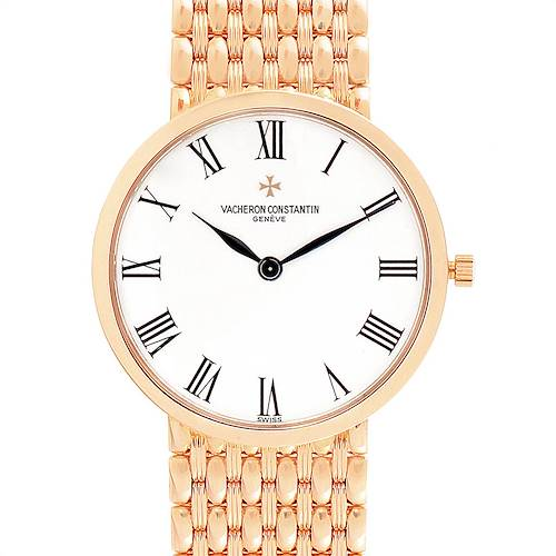 Vacheron Constantin Patrimony 18K Rose Gold Ultra Thin Mens Watch 33093