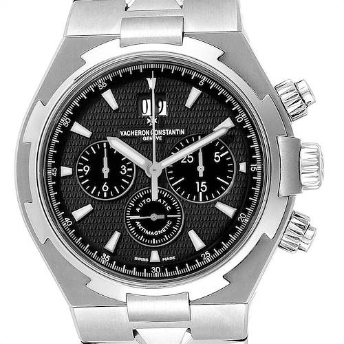 Photo of Vacheron Constantin Overseas Chronograph Black Dial Watch 49150