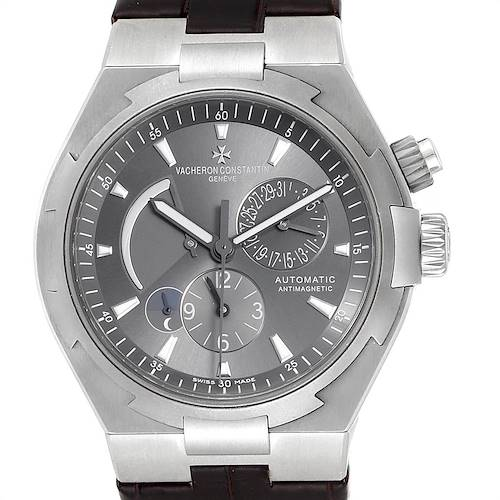 Photo of Vacheron Constantin Overseas Dual Time Grey Dial Mens Watch 47450