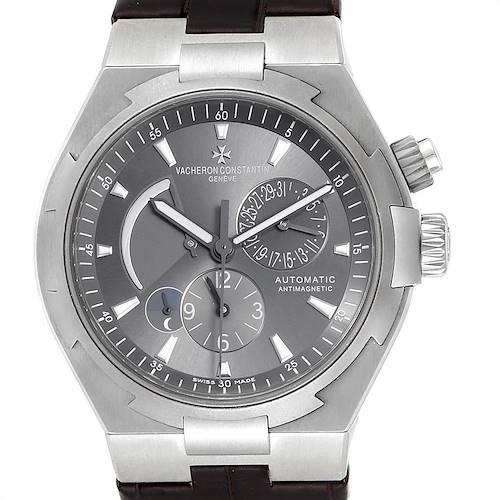 Photo of Vacheron Constantin Overseas Dual Time Grey Dial Mens Watch 47450