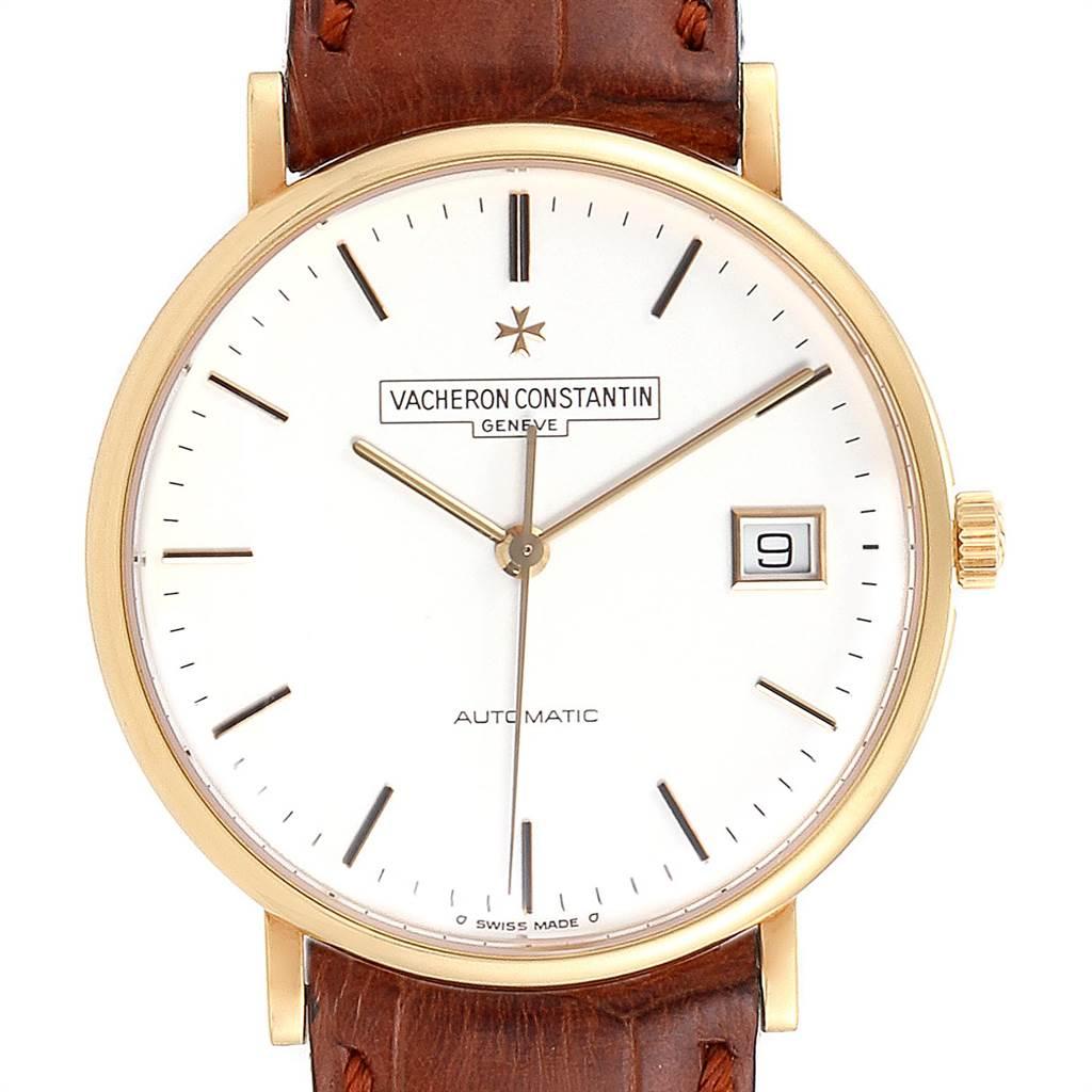Vacheron Constantin Patrimony Yellow Gold White Dial Mens Watch 42002 SwissWatchExpo