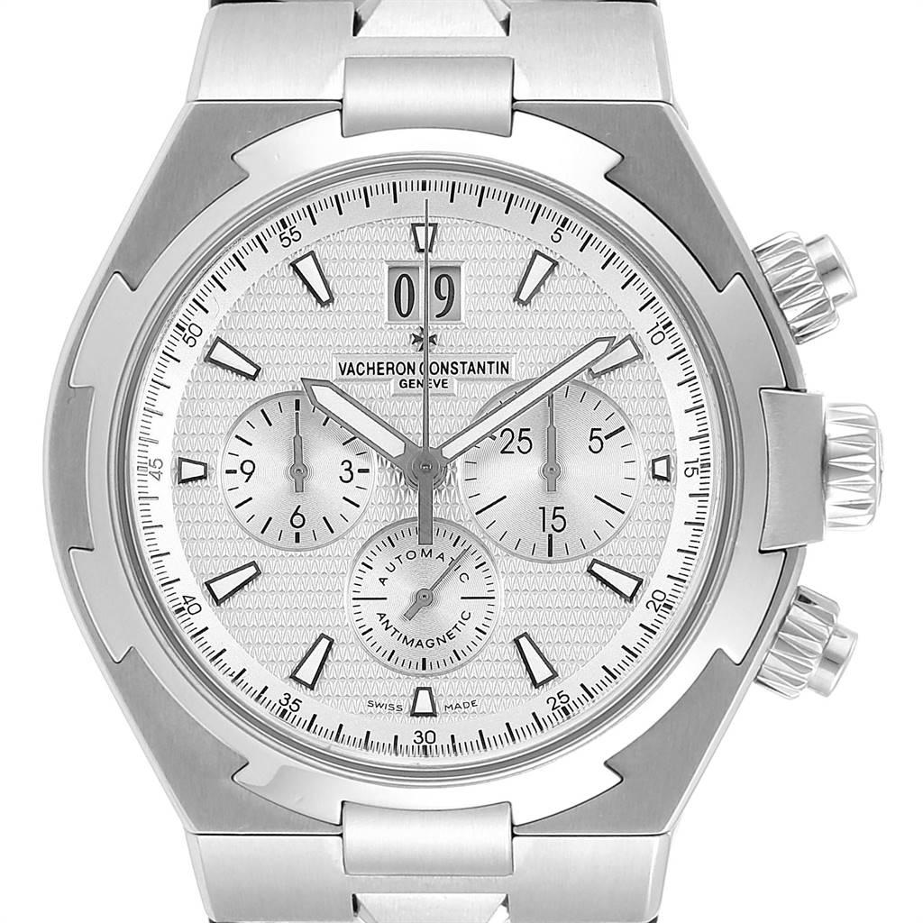 Vacheron Constantin Overseas Chronograph Silver Dial Mens Watch 49150