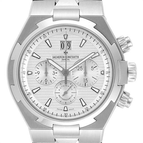 Photo of Vacheron Constantin Overseas Chronograph Silver Dial Mens Watch 49150