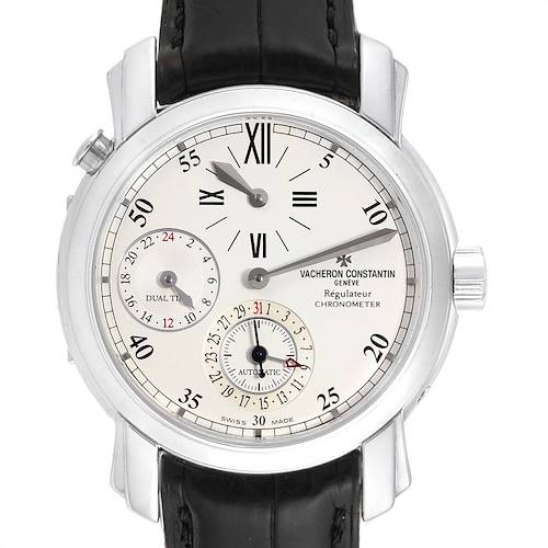 Photo of Vacheron Constantin Malte Dual Time Regulator White Gold Mens Watch 42005