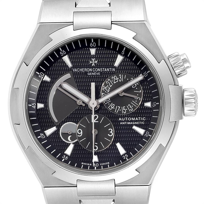 Vacheron Constantin Overseas Dual Time Black Dial Mens Watch 47450 SwissWatchExpo