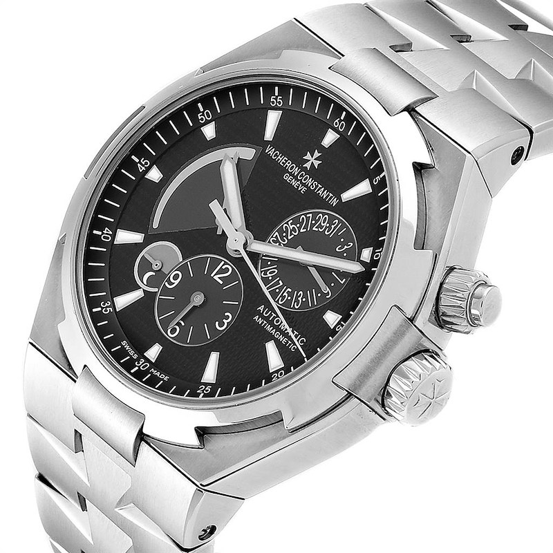 Vacheron Constantin Overseas Dual Time Black Dial Mens Watch 47450 SwissWatchExpo