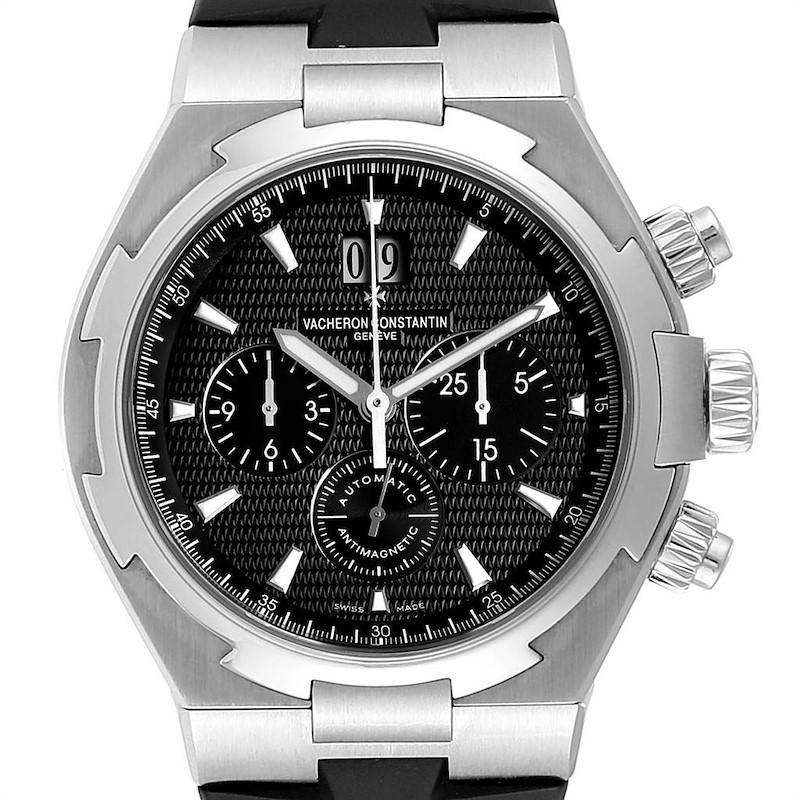 Vacheron Constantin Overseas Black Dial Chronograph Mens Watch 49150 SwissWatchExpo