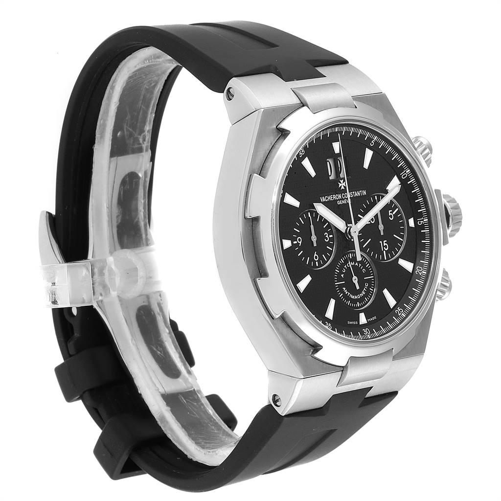 Vacheron Constantin Overseas Black Dial Chronograph Mens Watch 49150 SwissWatchExpo