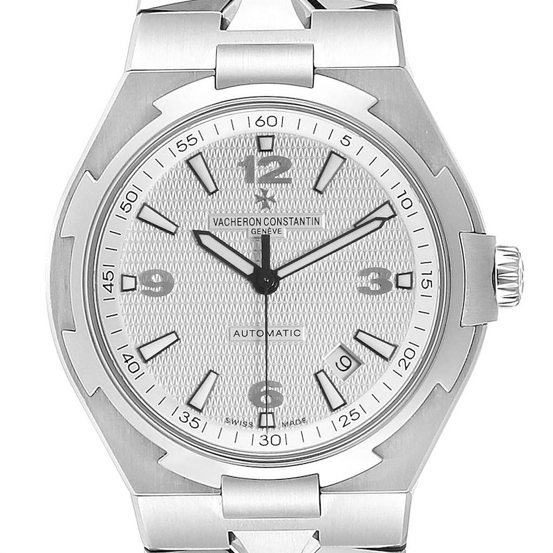 Vacheron Constantin Overseas Silver Dial Steel Mens Watch 47040 SwissWatchExpo