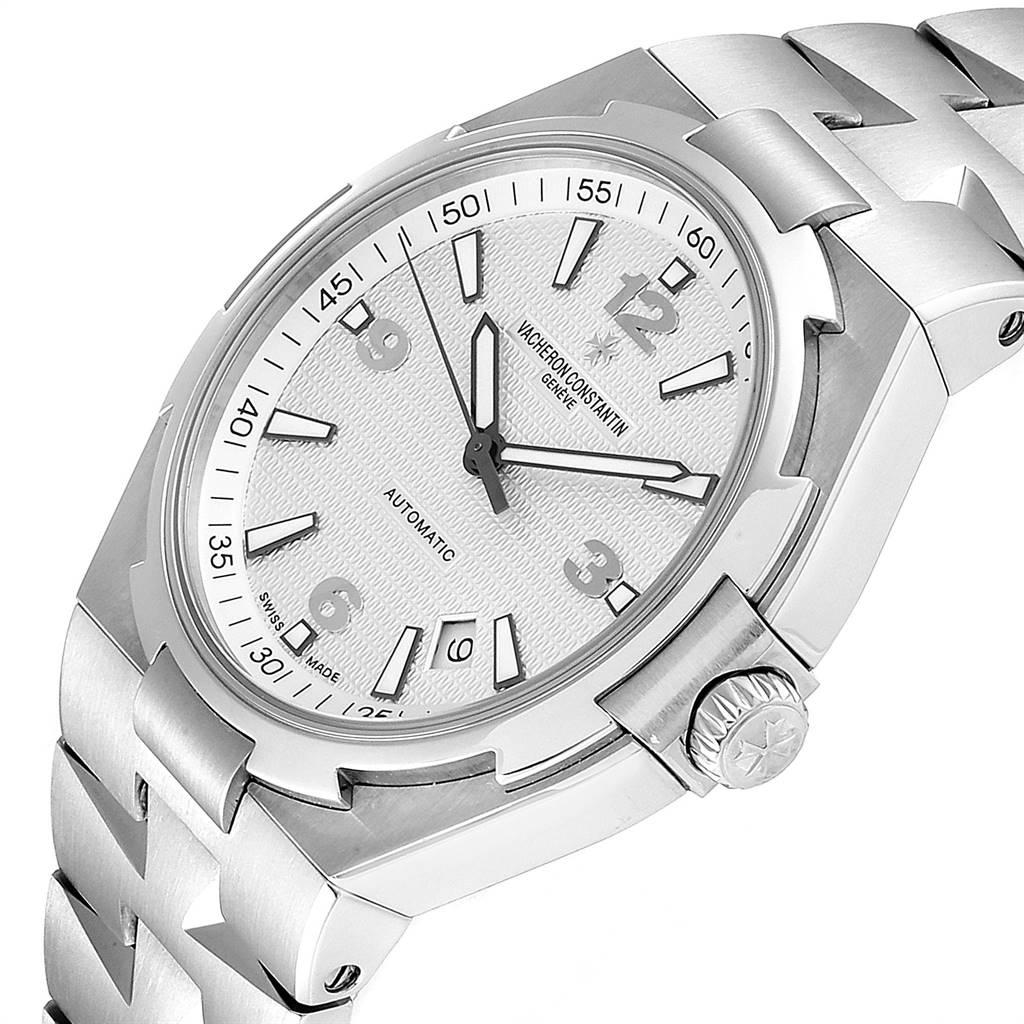Vacheron Constantin Overseas Silver Dial Steel Mens Watch 47040 SwissWatchExpo