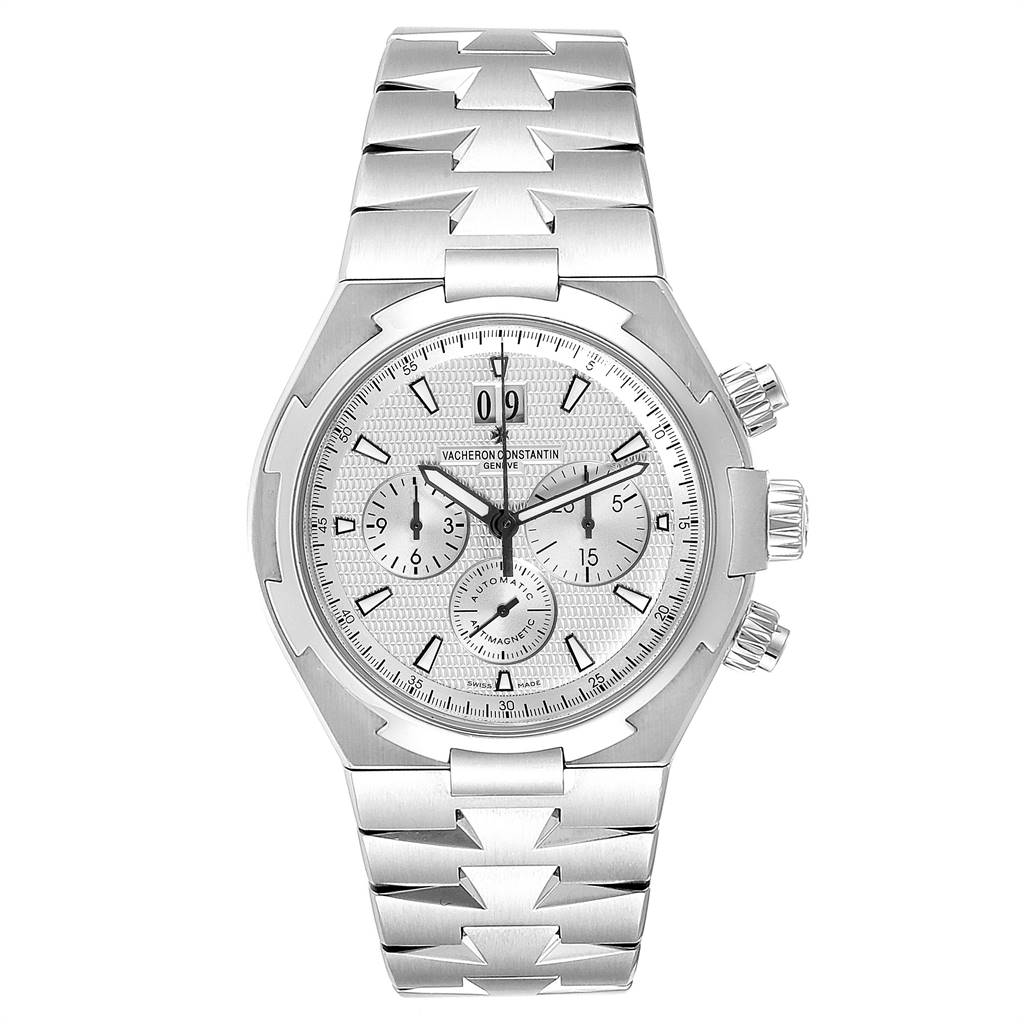 Vacheron Constantin Overseas Chronograph Mens Watch 49150 Box Papers SwissWatchExpo