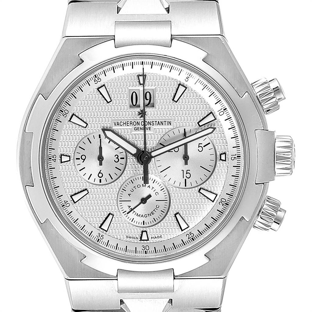 Vacheron Constantin Overseas Chronograph Mens Watch 49150 Box Papers