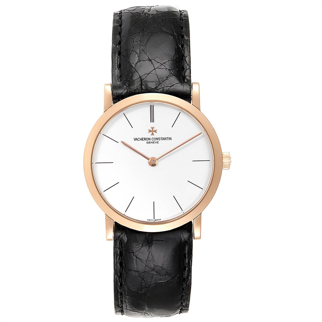 Vacheron Constantin Patrimony 18K Rose Gold Ultra Thin Mens Watch 33093 SwissWatchExpo