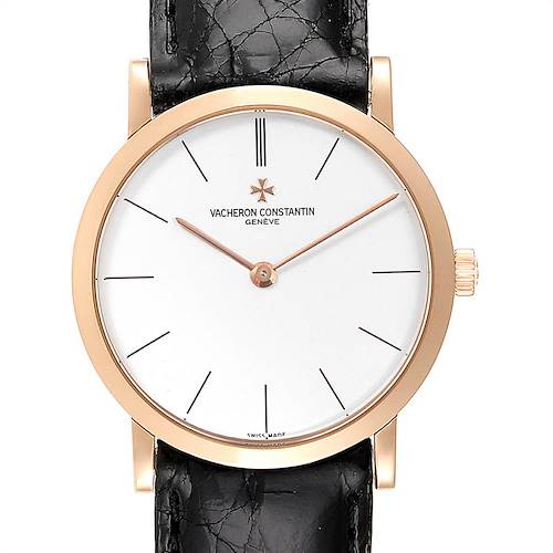 Photo of Vacheron Constantin Patrimony 18K Rose Gold Ultra Thin Mens Watch 33093