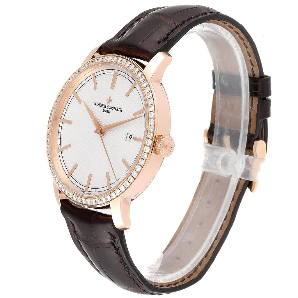 Vacheron Constantin Traditionnelle Rose Gold Diamond Mens Watch 85520 SwissWatchExpo