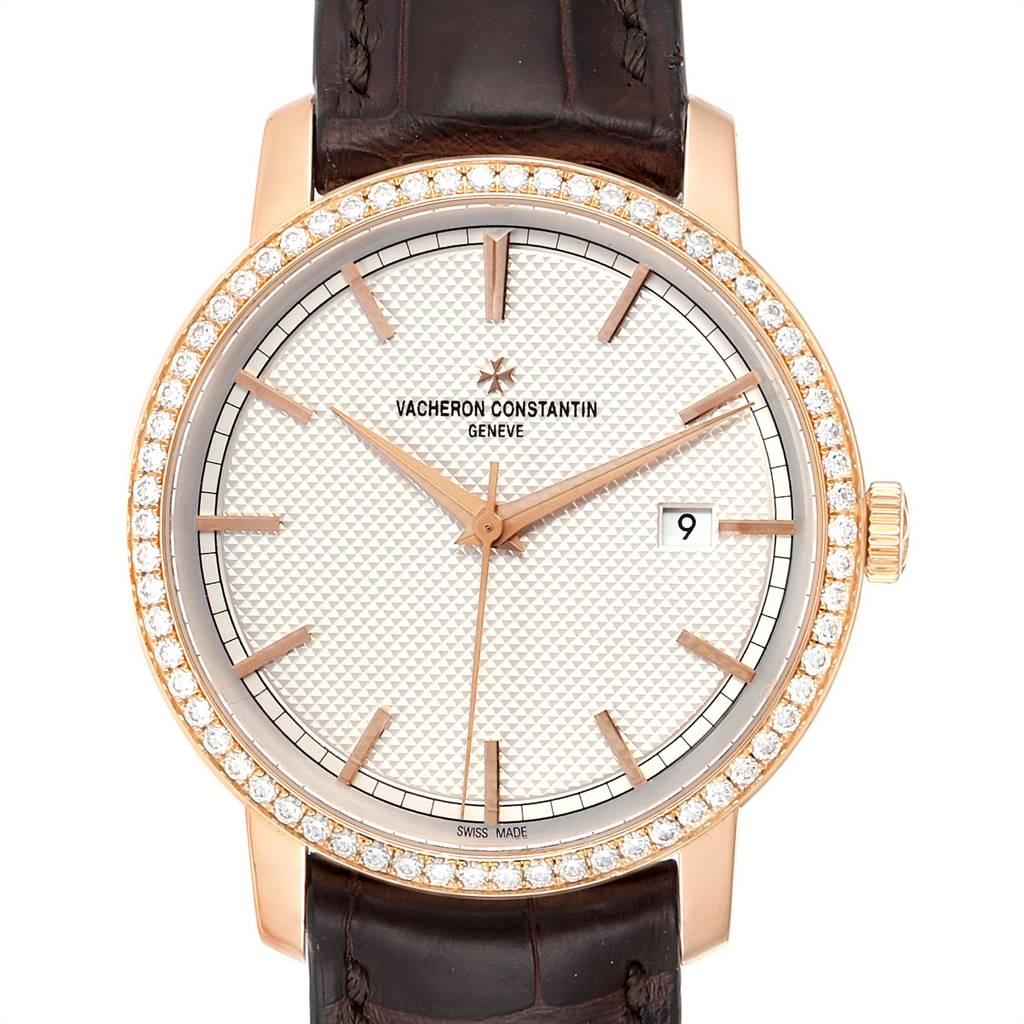 Photo of Vacheron Constantin Traditionnelle Rose Gold Diamond Mens Watch 85520