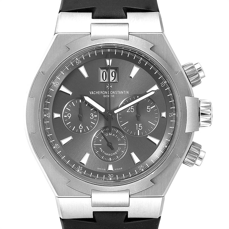 Vacheron Constantin Overseas Deep Stream Chronograph Mens Watch 49150 SwissWatchExpo