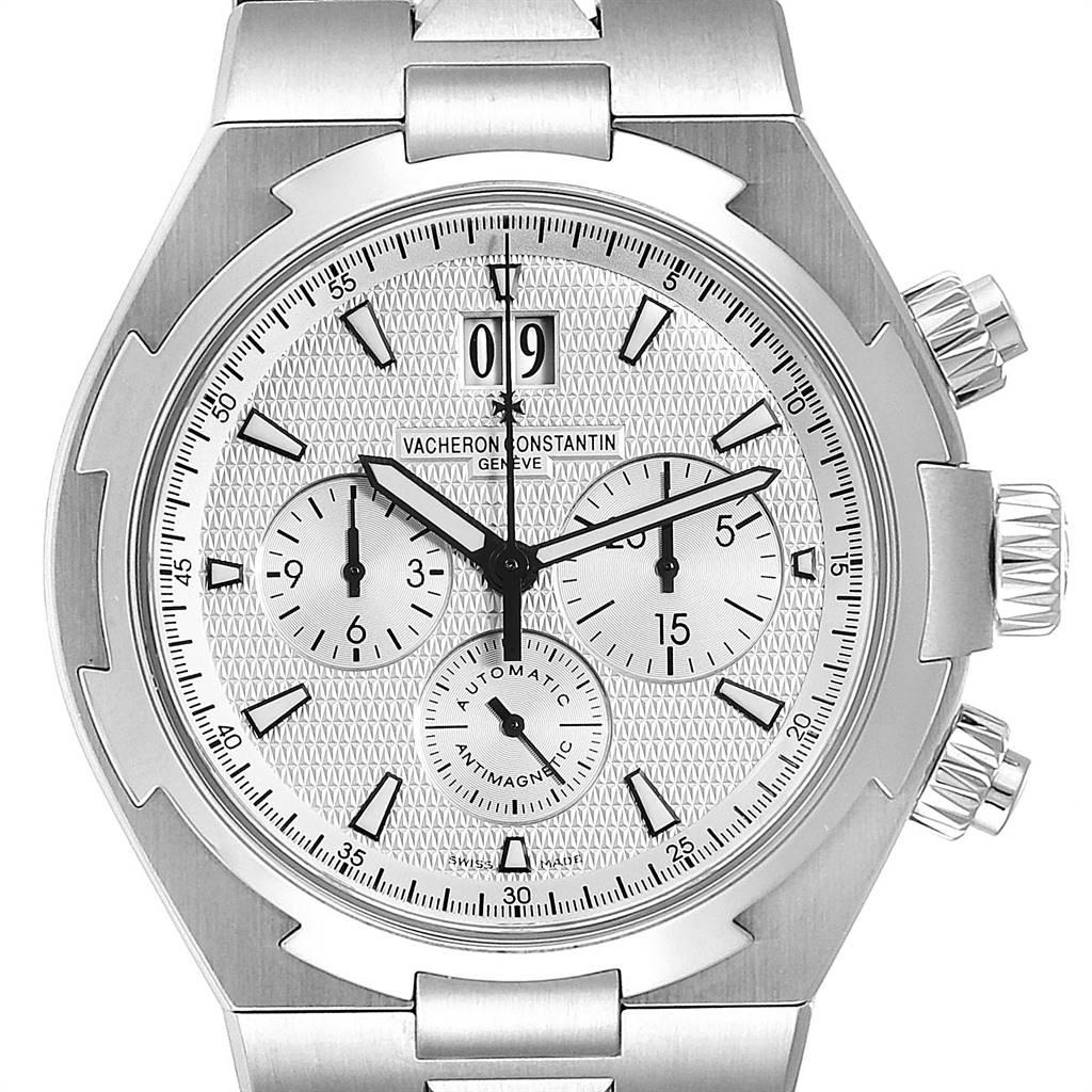 Vacheron Constantin Overseas Chronograph Mens Watch 49150 Box Papers