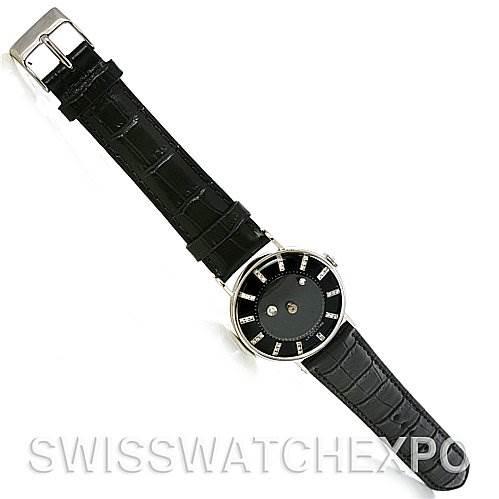 4216 Lecoultre Vacheron Constantin Galaxy Mystery Dial 14K Black Gold Diamond Watch SwissWatchExpo