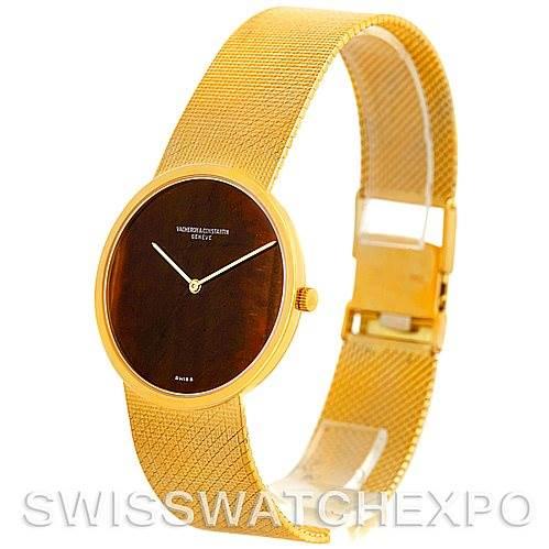 5603P Vacheron Constantin Vintage 18K Yellow Gold Tiger Eye Watch 7291 SwissWatchExpo
