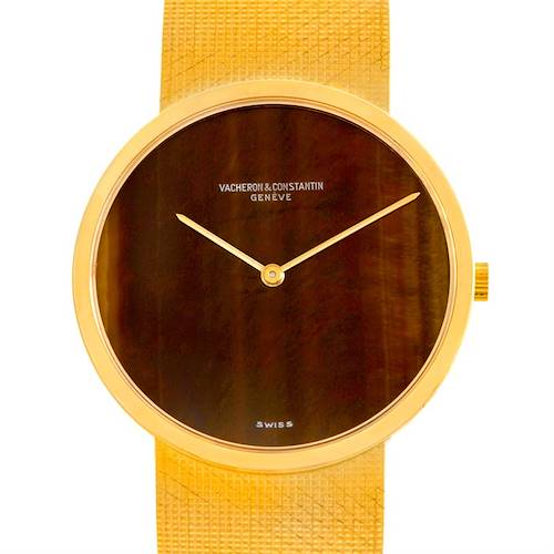 Photo of Vacheron Constantin Vintage 18K Yellow Gold Tiger Eye Watch 7291