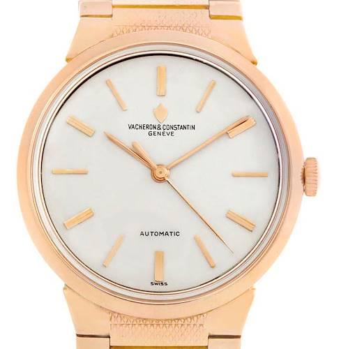 Photo of Vacheron Constantin Vintage 18K Rose Gold Automatic Mens Watch