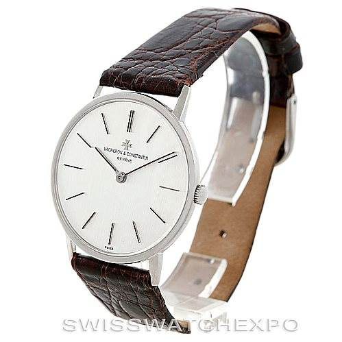 Vacheron Constantin Vintage 18K White Gold Watch 7697 SwissWatchExpo