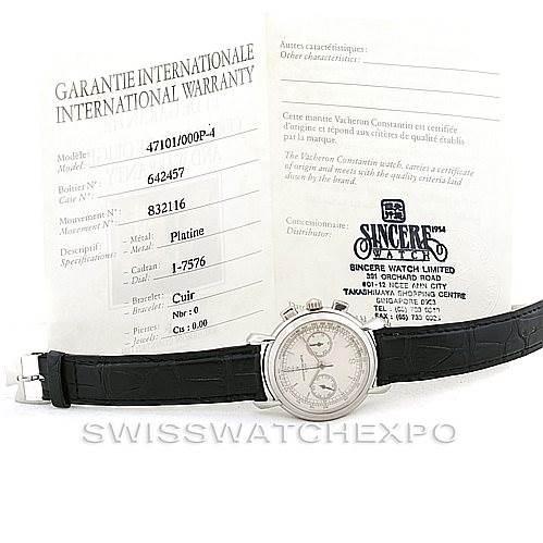 6693P Vacheron Constantin Les Historiques Platinum Watch 47101  SwissWatchExpo