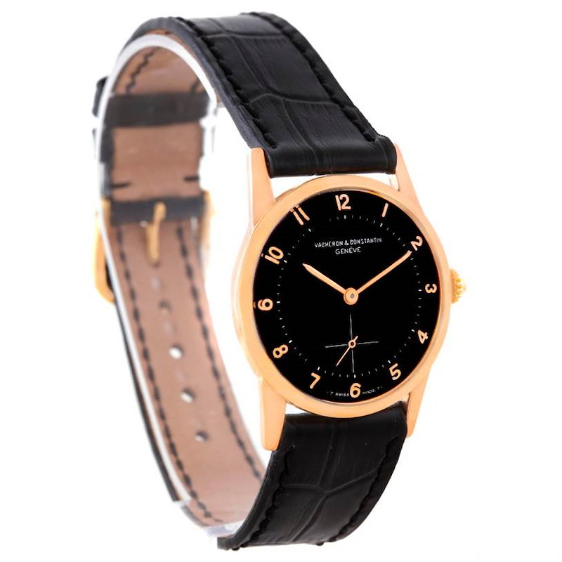 Vacheron Constantin Vintage 18K Rose Gold Black Dial Watch SwissWatchExpo