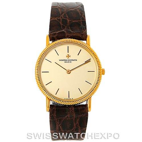 7385 Vacheron Constantin Vintage 18K Yellow Gold Watch 33076 SwissWatchExpo