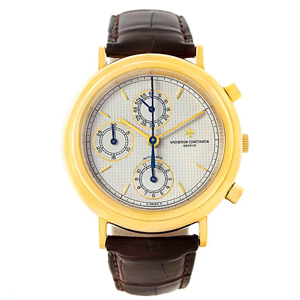 7384 Vacheron Constantin Chronograph Automatic Yellow Gold Watch 47001 SwissWatchExpo