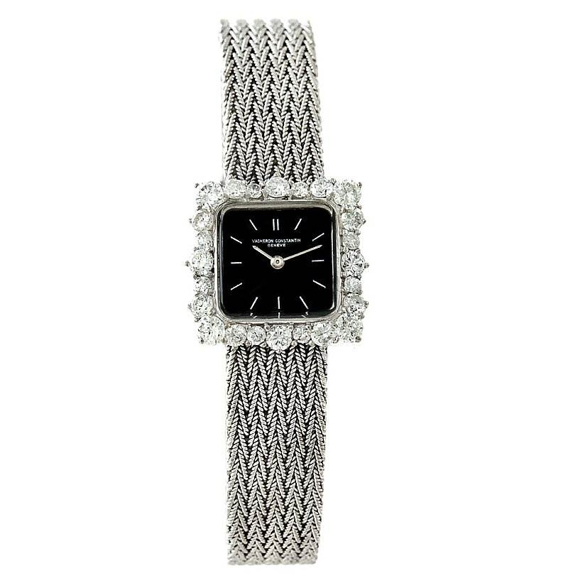 6478 Vacheron Constantin 18k White Gold Diamond Vintage Cocktail Watch SwissWatchExpo