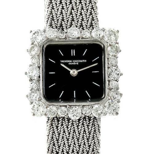 Photo of Vacheron Constantin 18k White Gold Diamond Vintage Cocktail Watch