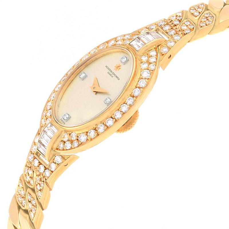 Vacheron Constantin Yellow Gold Diamond Vintage Cocktail Ladies Watch SwissWatchExpo