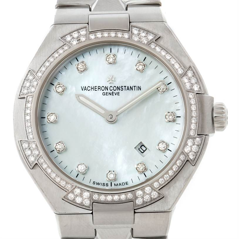 8101P Vacheron Constantin Overseas Ladies Diamond Watch 25750 SwissWatchExpo