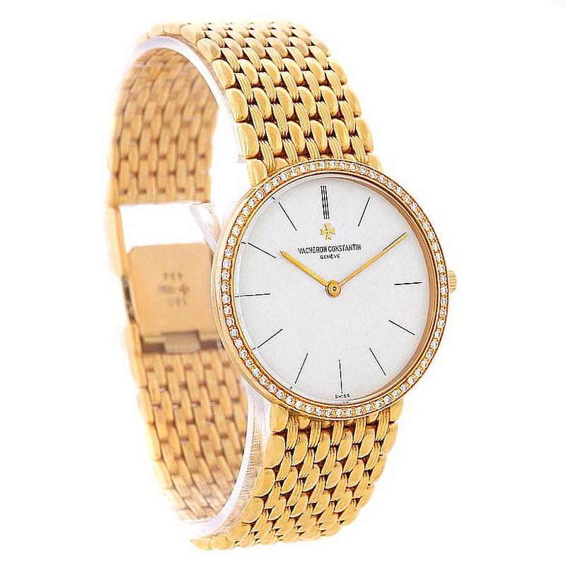 Vacheron Constantin 18K Yellow Gold Diamond Watch 33593 SwissWatchExpo