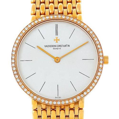Photo of Vacheron Constantin 18K Yellow Gold Diamond Watch 33593