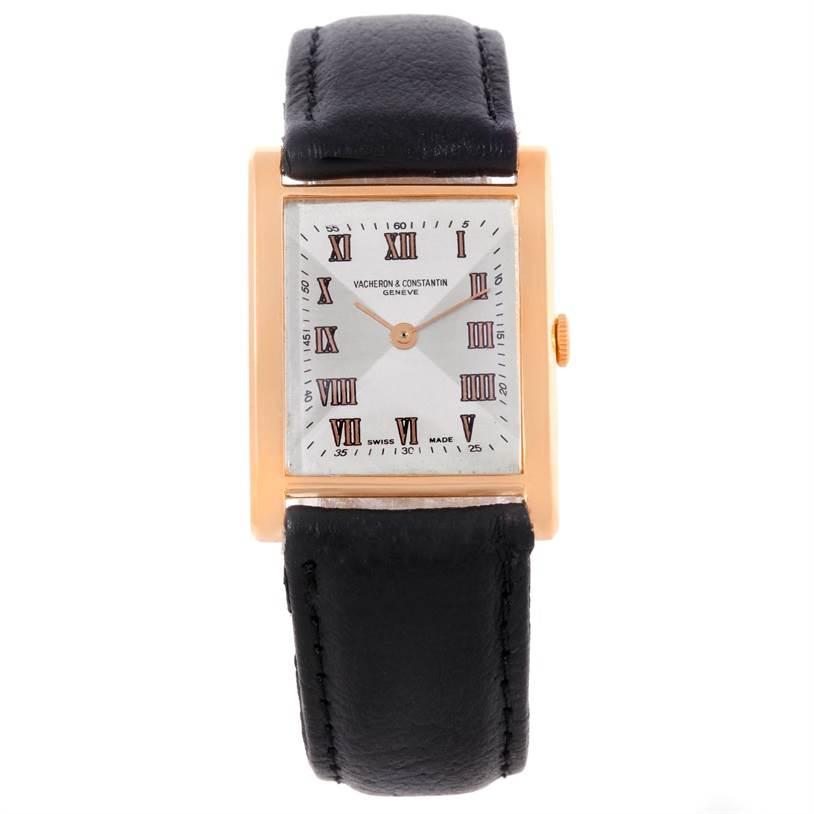 8959 Vacheron Constantin Vintage 18K Rose Gold Mechanical Mens Watch SwissWatchExpo
