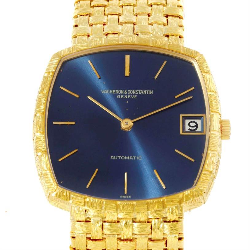 9590 Vacheron Constantin Automatic 18K Yellow Gold Watch 7664 Box Papers SwissWatchExpo